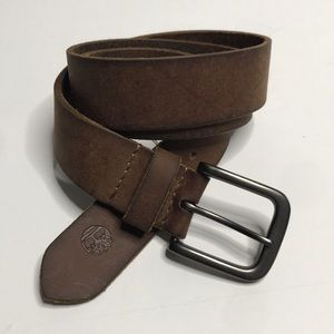 Timberland brown leather belt size 32